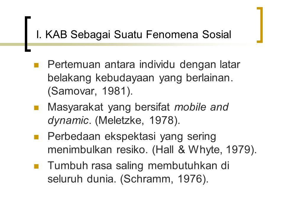 I. KAB Sebagai Suatu Fenomena Sosial