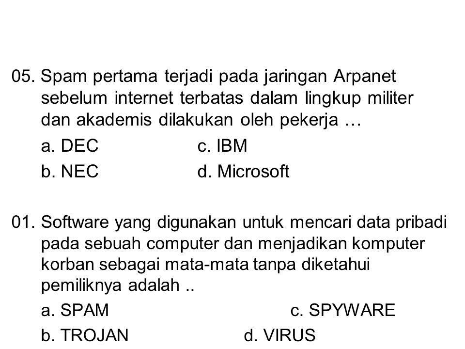 a. DEC c. IBM b. NEC d. Microsoft