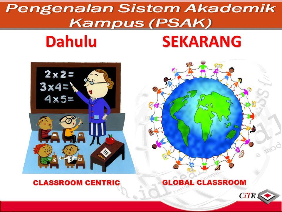 Dahulu SEKARANG CLASSROOM CENTRIC GLOBAL CLASSROOM