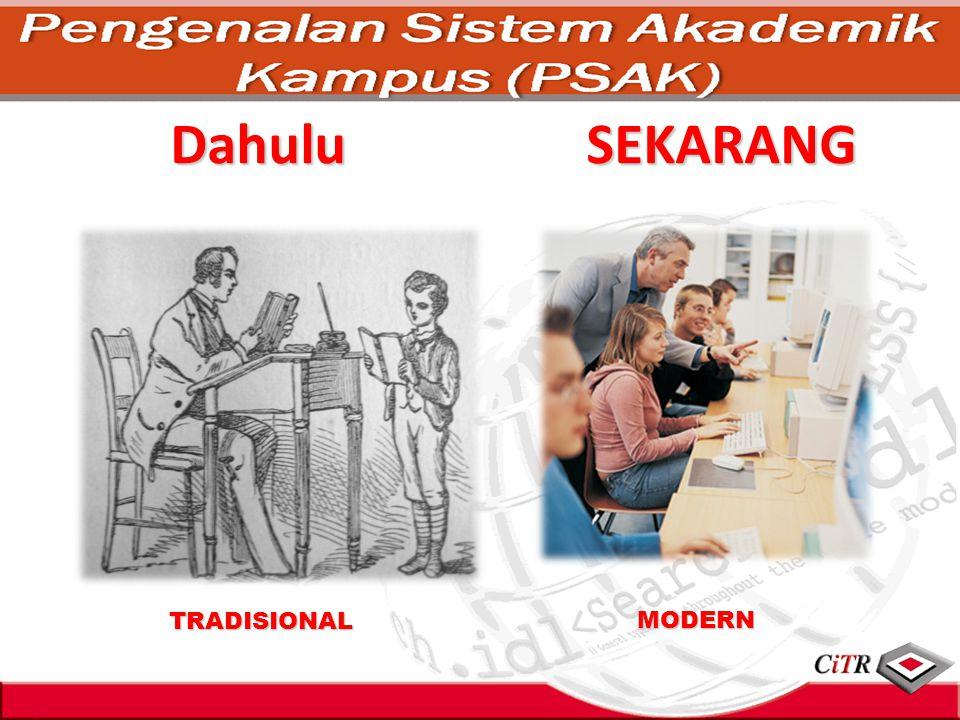 Dahulu SEKARANG TRADISIONAL MODERN