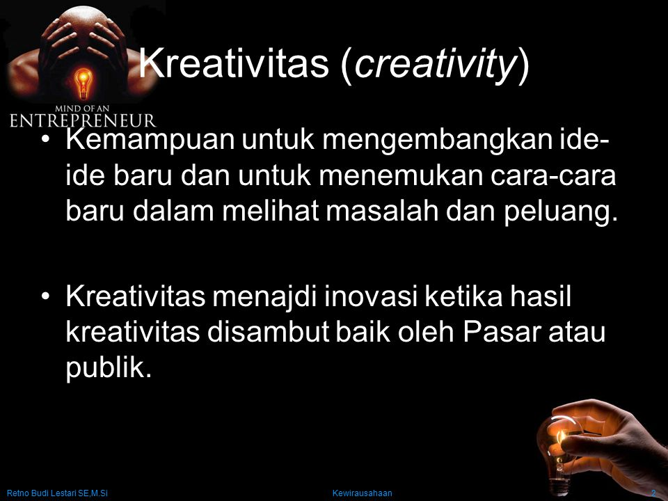 Kreativitas (creativity)