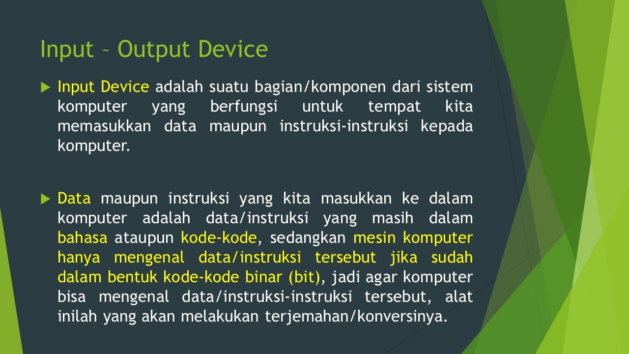 Input – Output Device