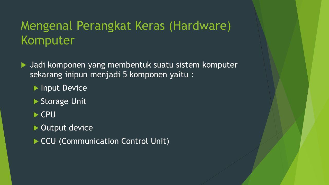 Mengenal Perangkat Keras (Hardware) Komputer