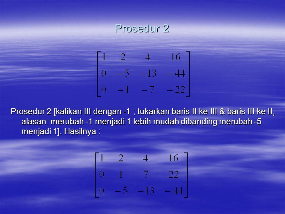 Prosedur 2