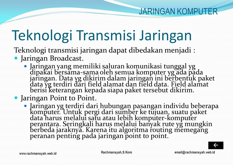 Teknologi Transmisi Jaringan
