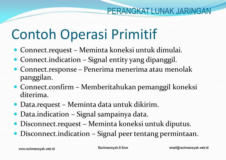 Contoh Operasi Primitif