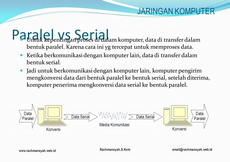 Paralel vs Serial JARINGAN KOMPUTER