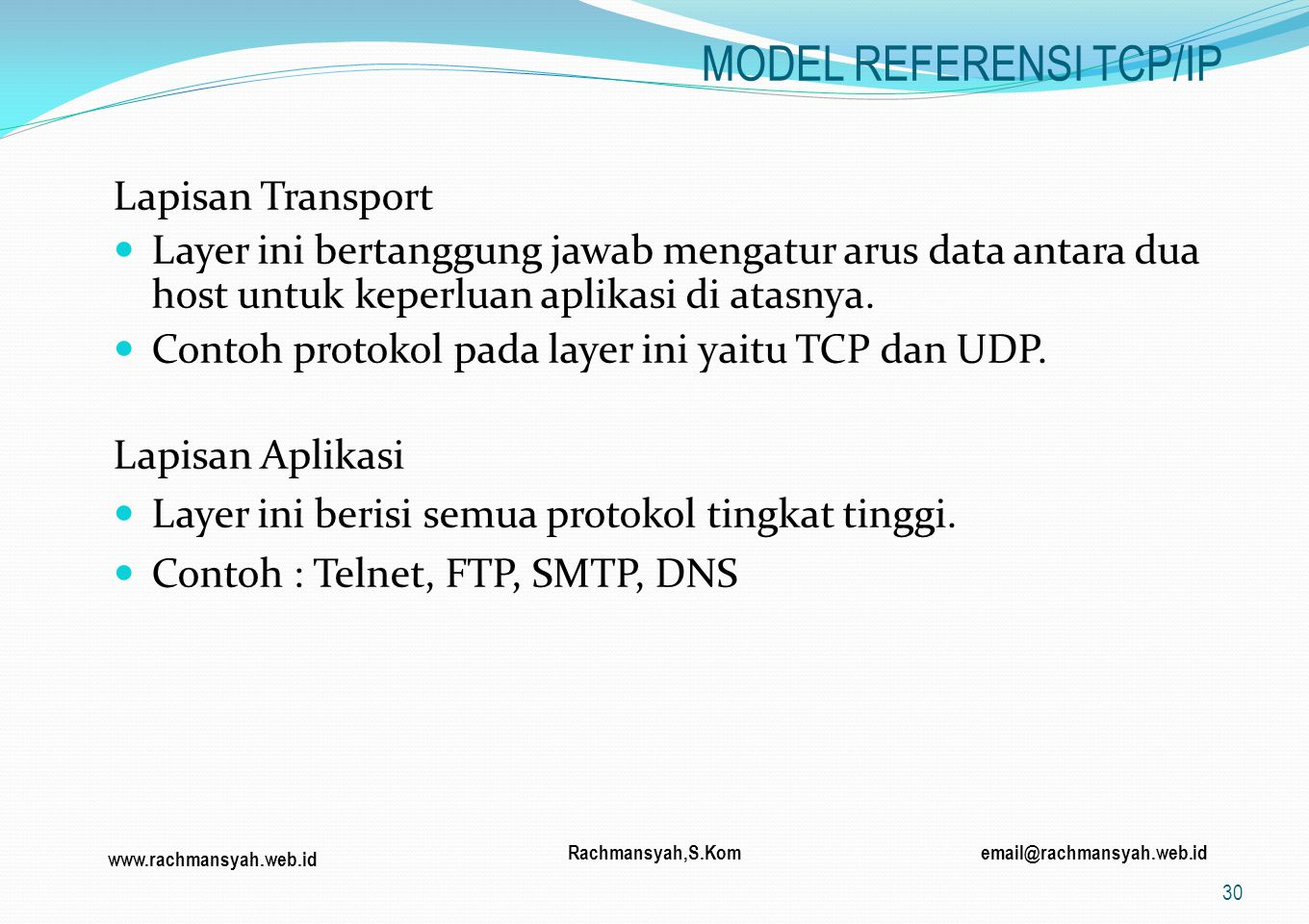 MODEL REFERENSI TCP/IP