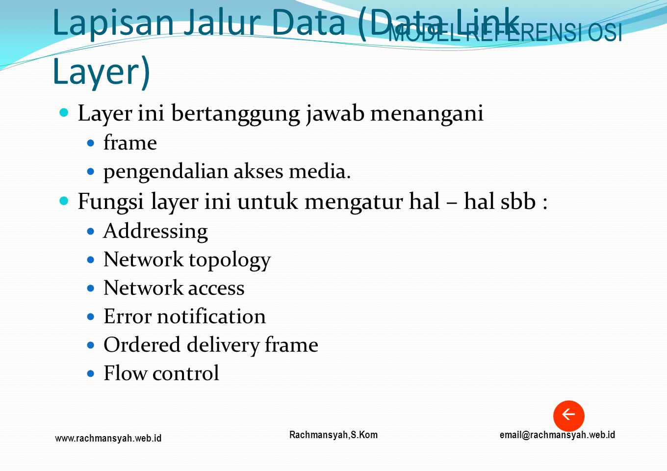 Lapisan Jalur Data (Data Link Layer)
