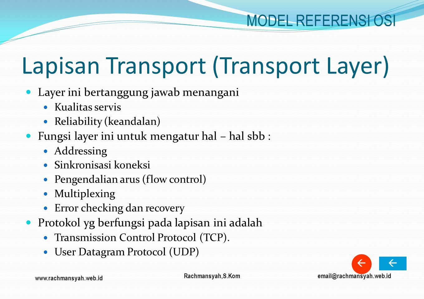 Lapisan Transport (Transport Layer)