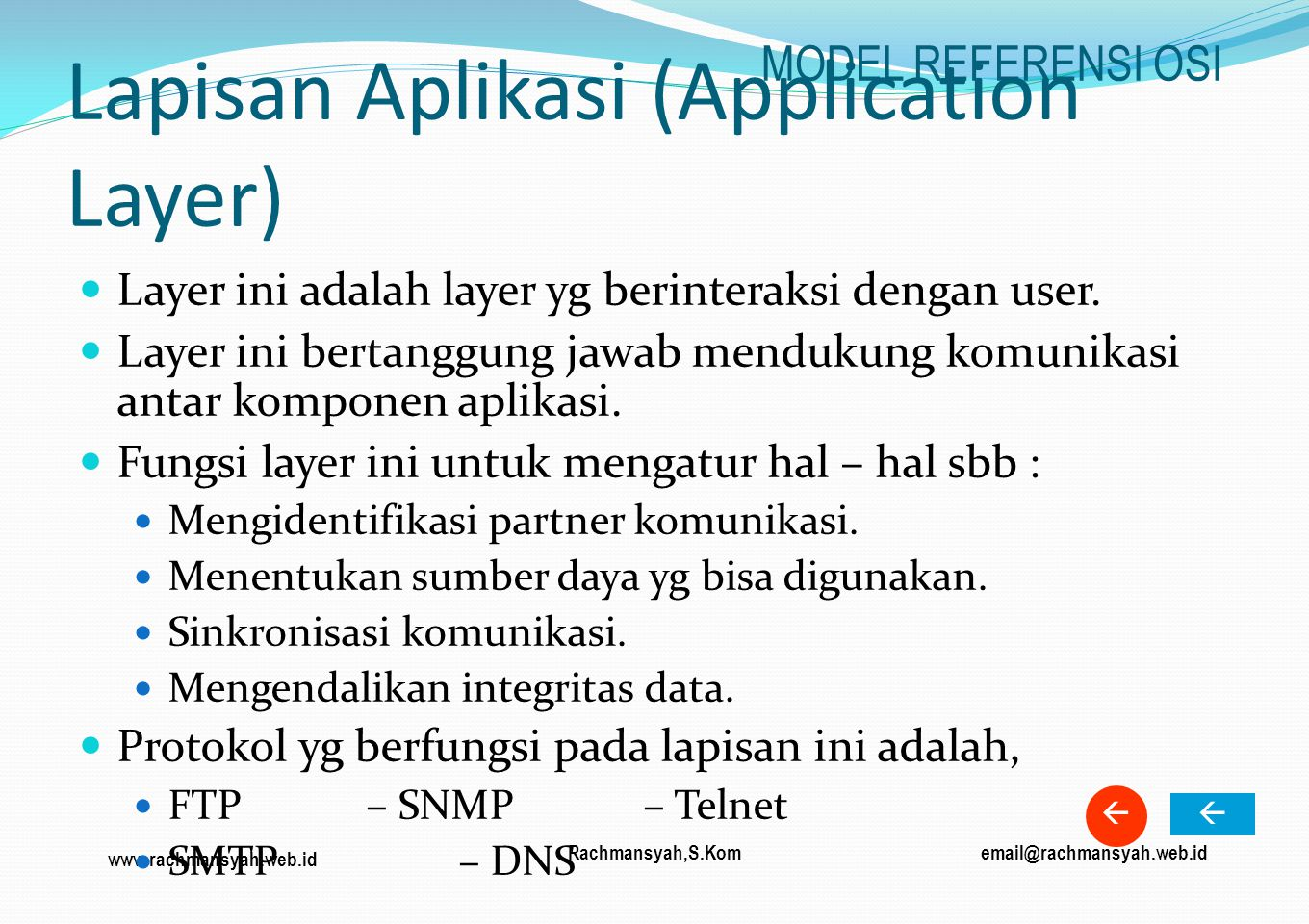 Lapisan Aplikasi (Application Layer)