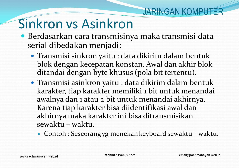 Sinkron vs Asinkron JARINGAN KOMPUTER