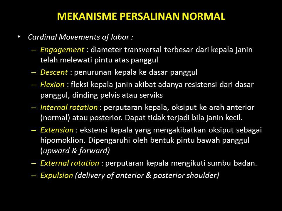 MEKANISME PERSALINAN NORMAL