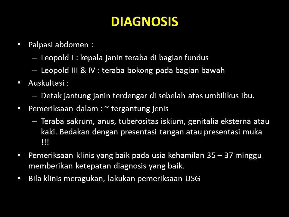 DIAGNOSIS Palpasi abdomen :