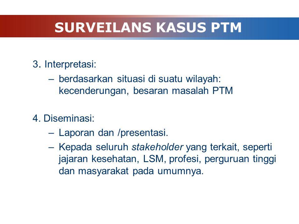 SURVEILANS KASUS PTM 3. Interpretasi: