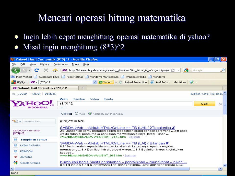 Mencari operasi hitung matematika