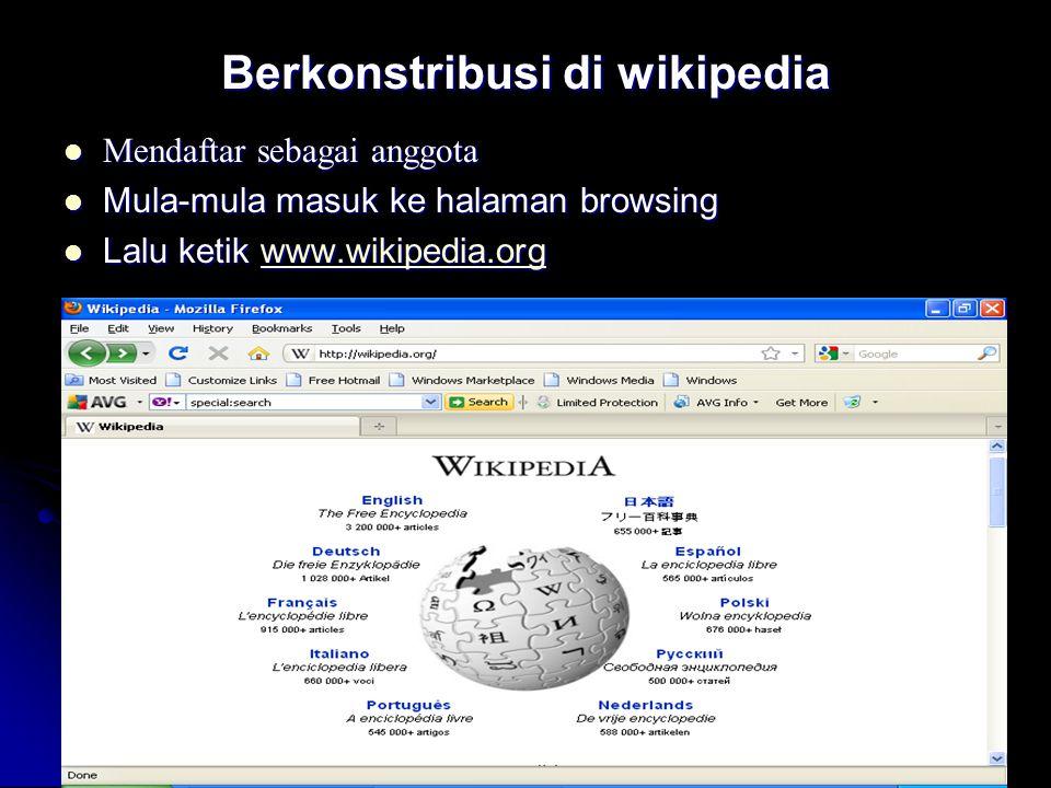 Berkonstribusi di wikipedia