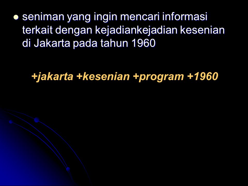 +jakarta +kesenian +program +1960