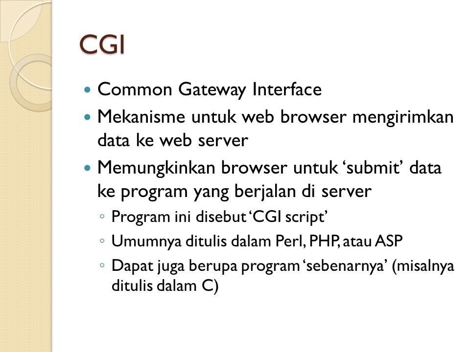 CGI Common Gateway Interface
