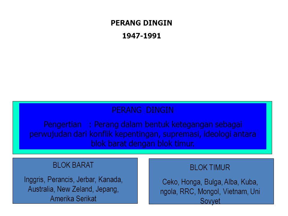 PERANG DINGIN 1947-1991. PERANG DINGIN.