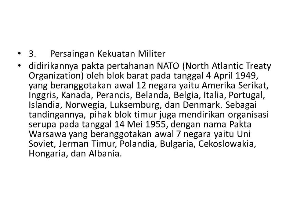 3. Persaingan Kekuatan Militer