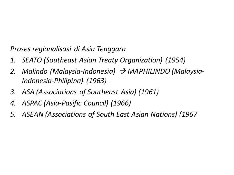 Proses regionalisasi di Asia Tenggara