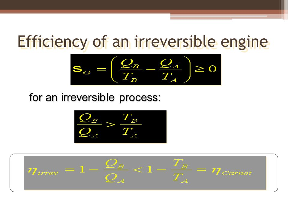 Efficiency of an irreversible engine