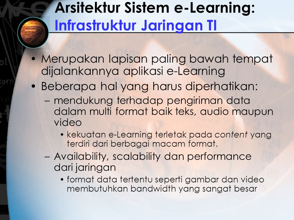 Arsitektur Sistem e-Learning: Infrastruktur Jaringan TI