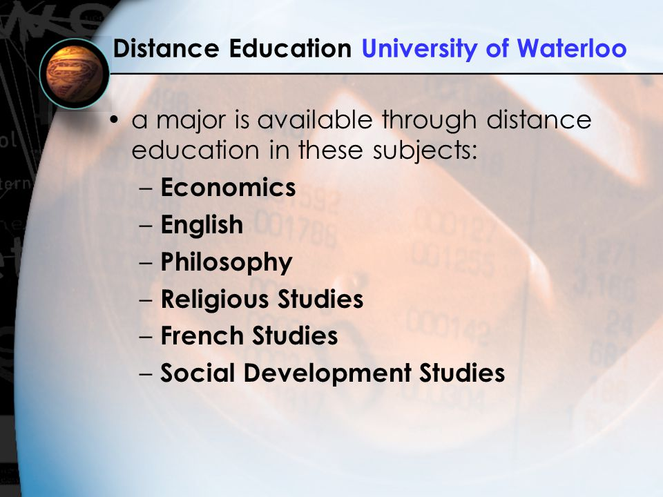Distance Education University of Waterloo