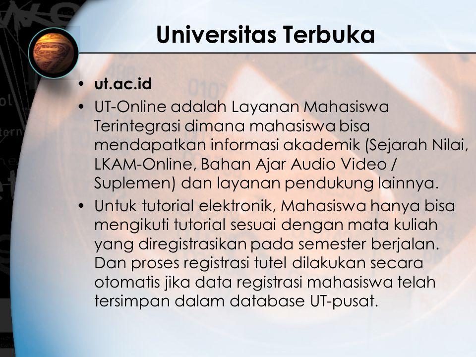 Universitas Terbuka ut.ac.id