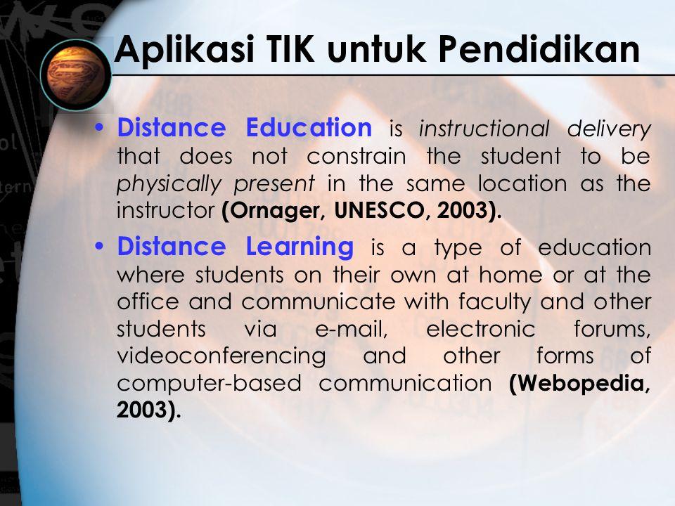 Aplikasi TIK untuk Pendidikan