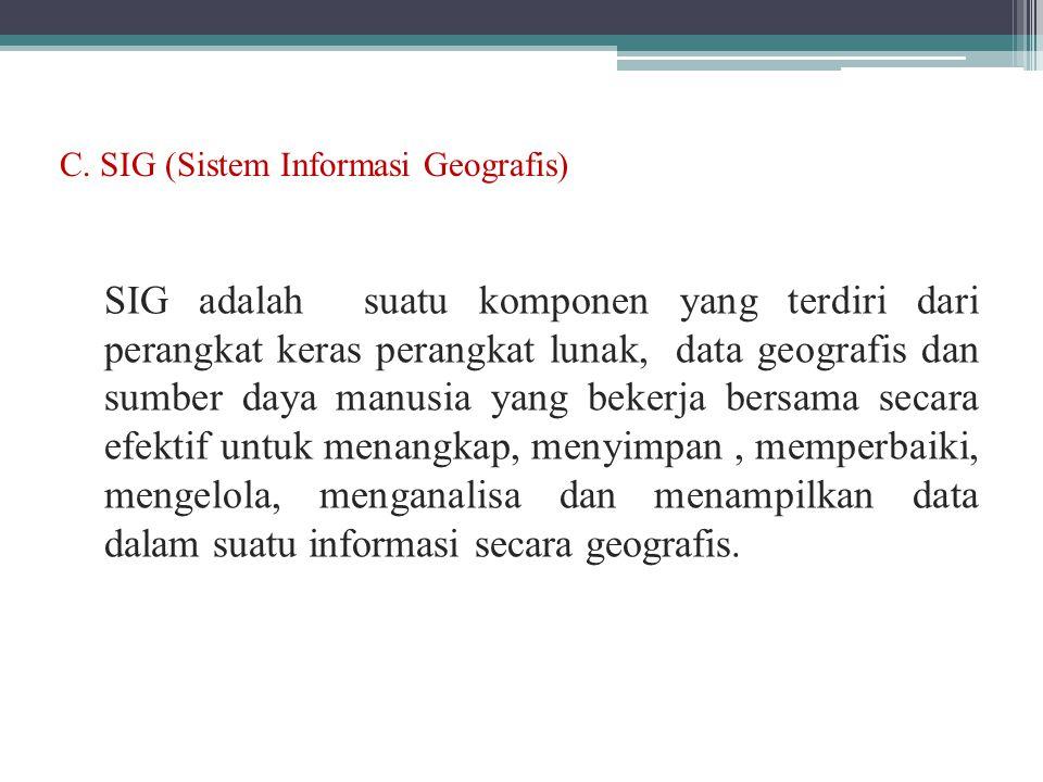 C. SIG (Sistem Informasi Geografis)