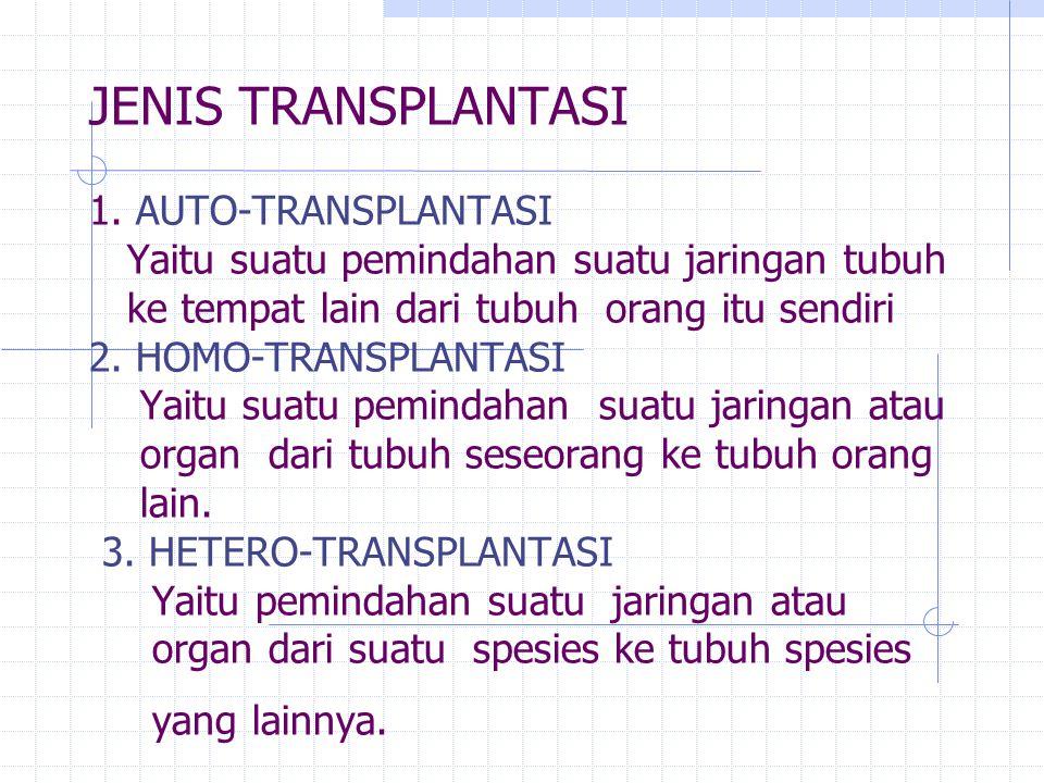 JENIS TRANSPLANTASI 1.