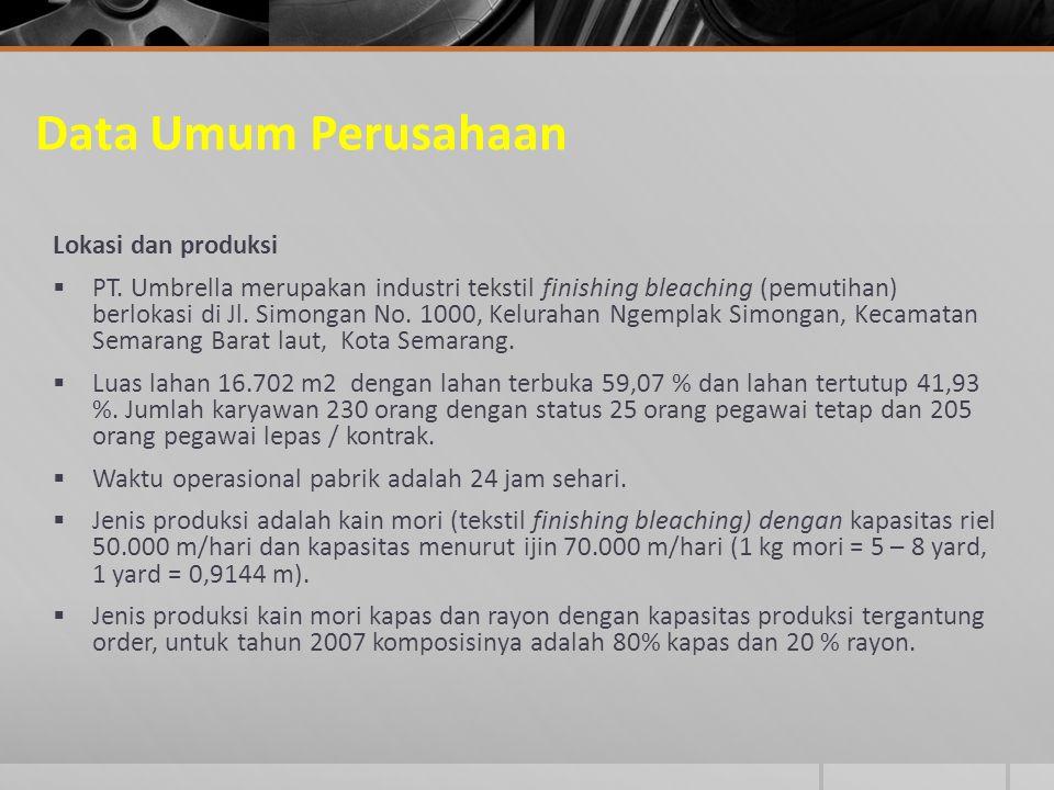 Data Umum Perusahaan Lokasi dan produksi