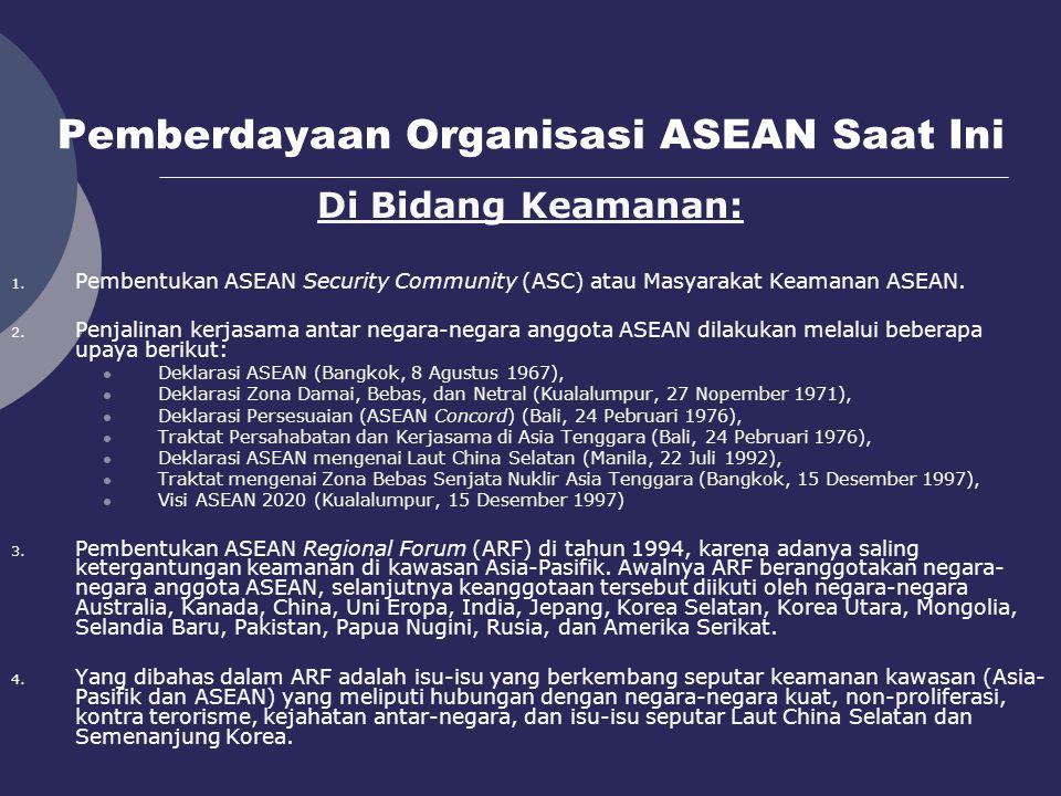 Pemberdayaan Organisasi ASEAN Saat Ini