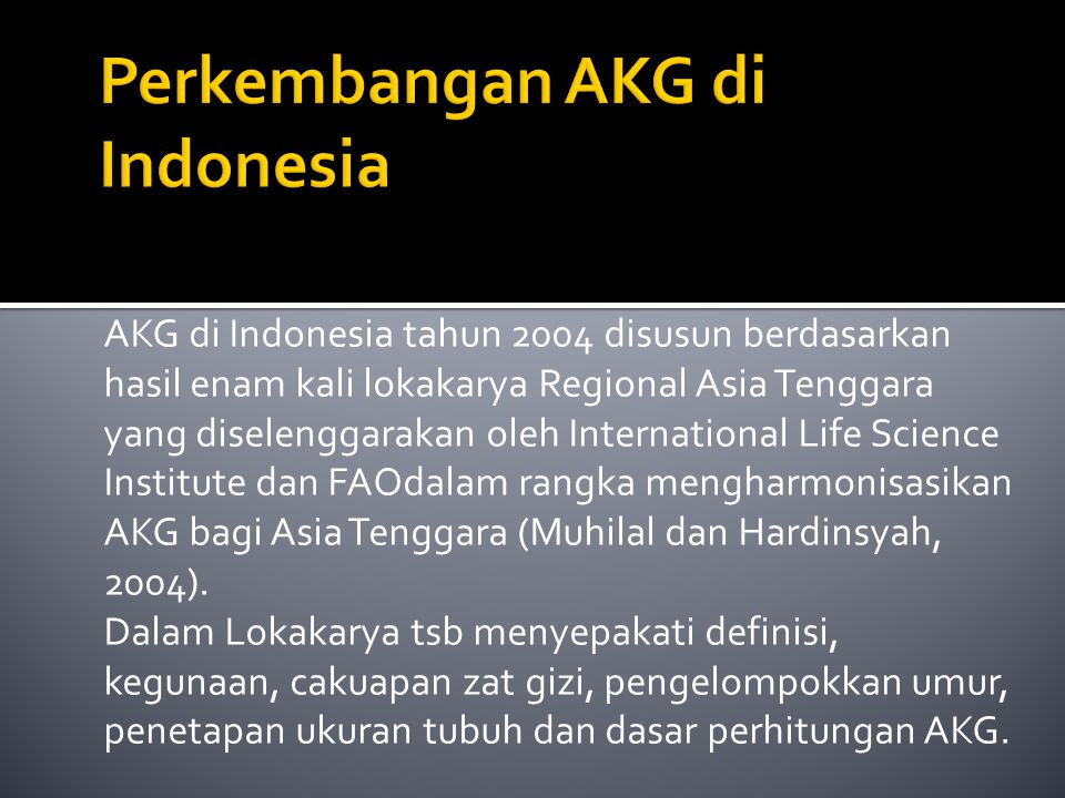 Perkembangan AKG di Indonesia
