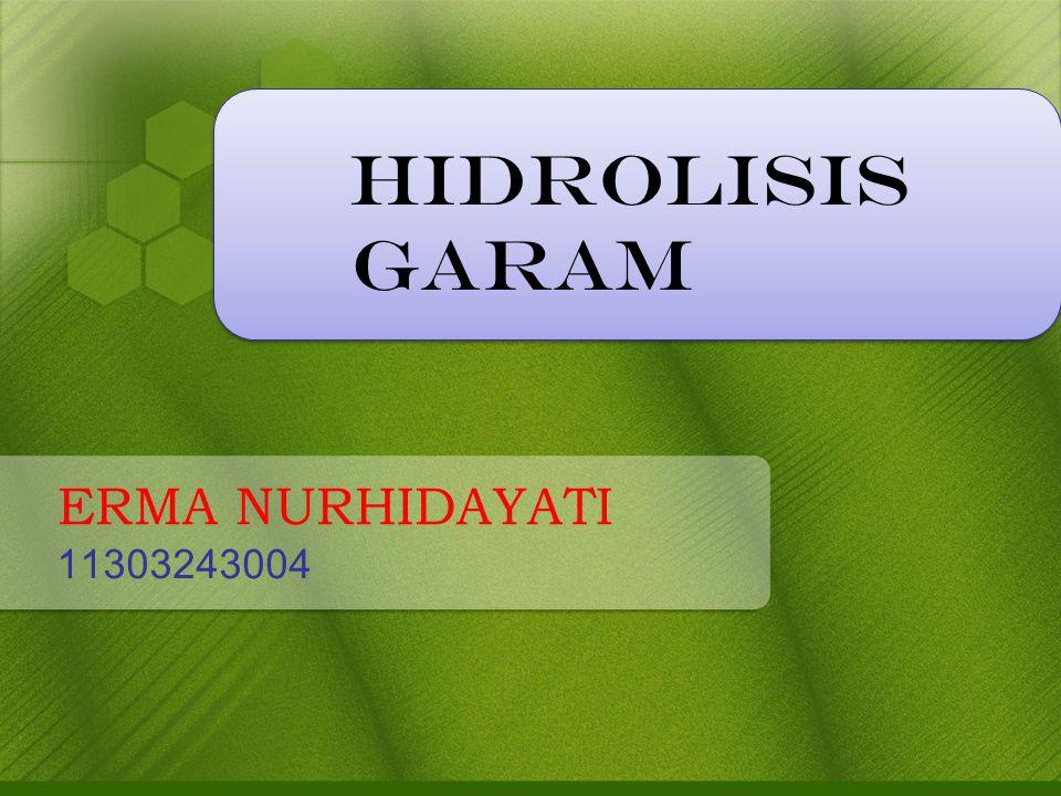 HIDROLISIS GARAM ERMA NURHIDAYATI 11303243004