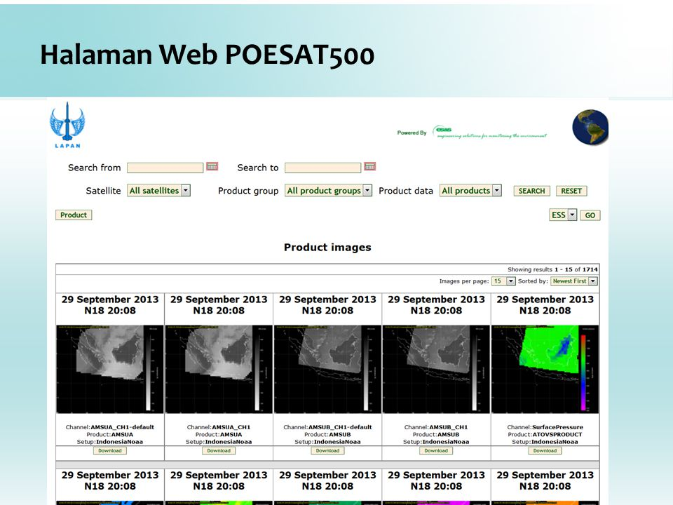 Halaman Web POESAT500