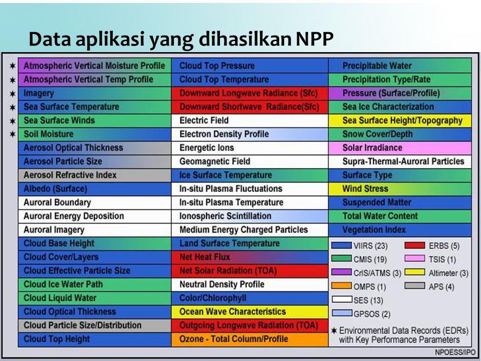 Data aplikasi yang dihasilkan NPP