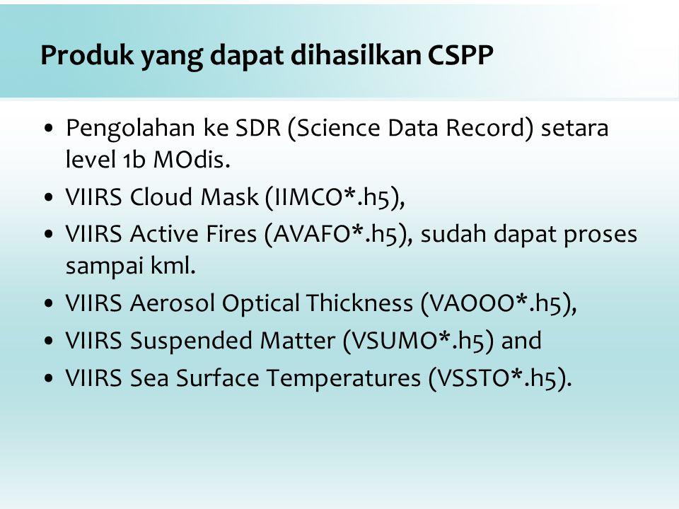Produk yang dapat dihasilkan CSPP