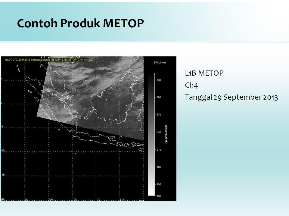 Contoh Produk METOP L1B METOP Ch4 Tanggal 29 September 2013