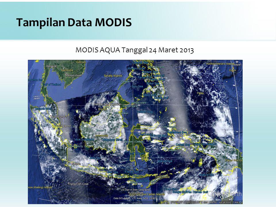 MODIS AQUA Tanggal 24 Maret 2013