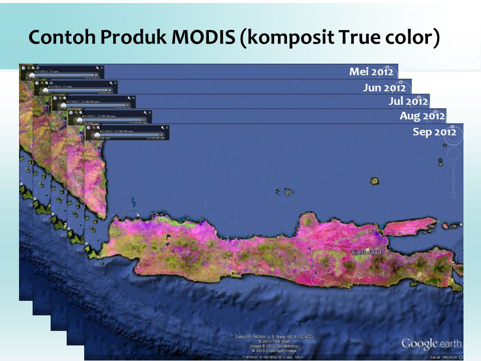 Contoh Produk MODIS (komposit True color)