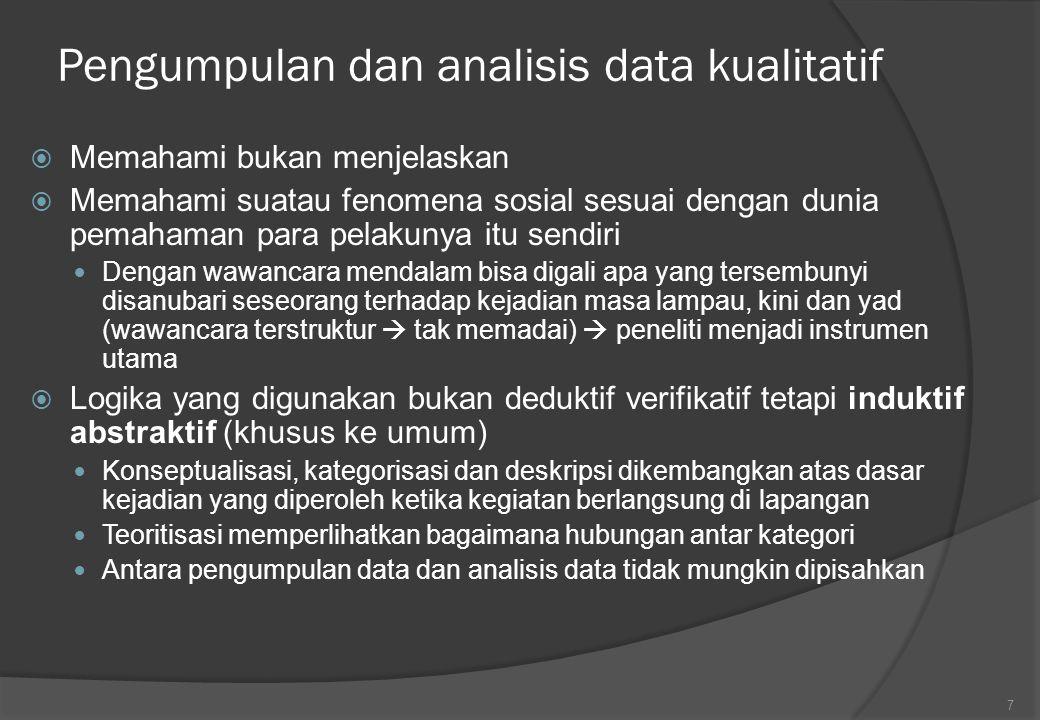 Pengumpulan dan analisis data kualitatif