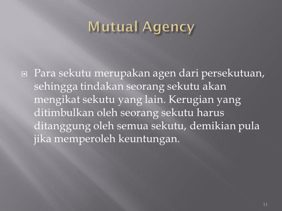Mutual Agency