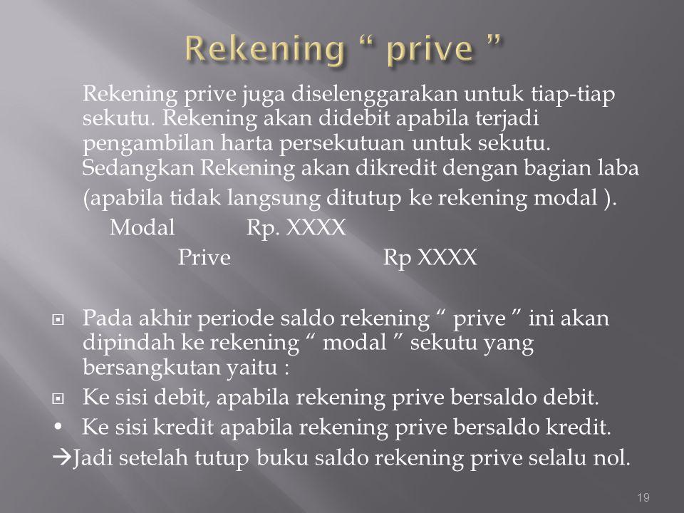 Rekening prive