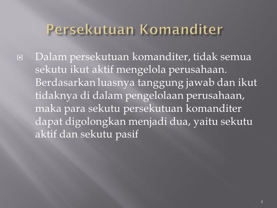 Persekutuan Komanditer