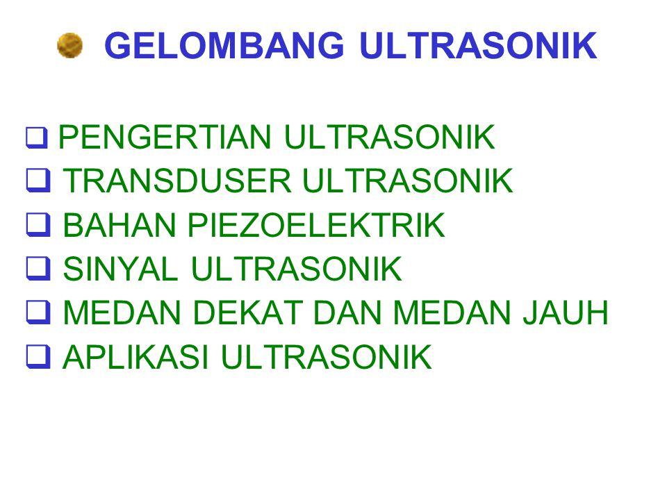 GELOMBANG ULTRASONIK TRANSDUSER ULTRASONIK BAHAN PIEZOELEKTRIK