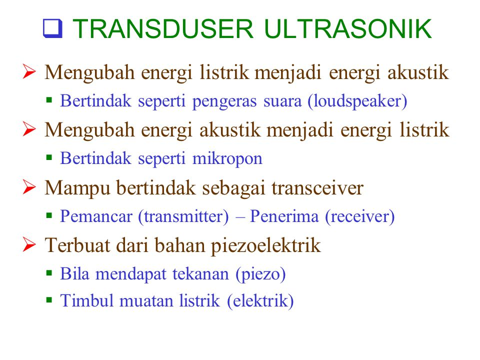 TRANSDUSER ULTRASONIK