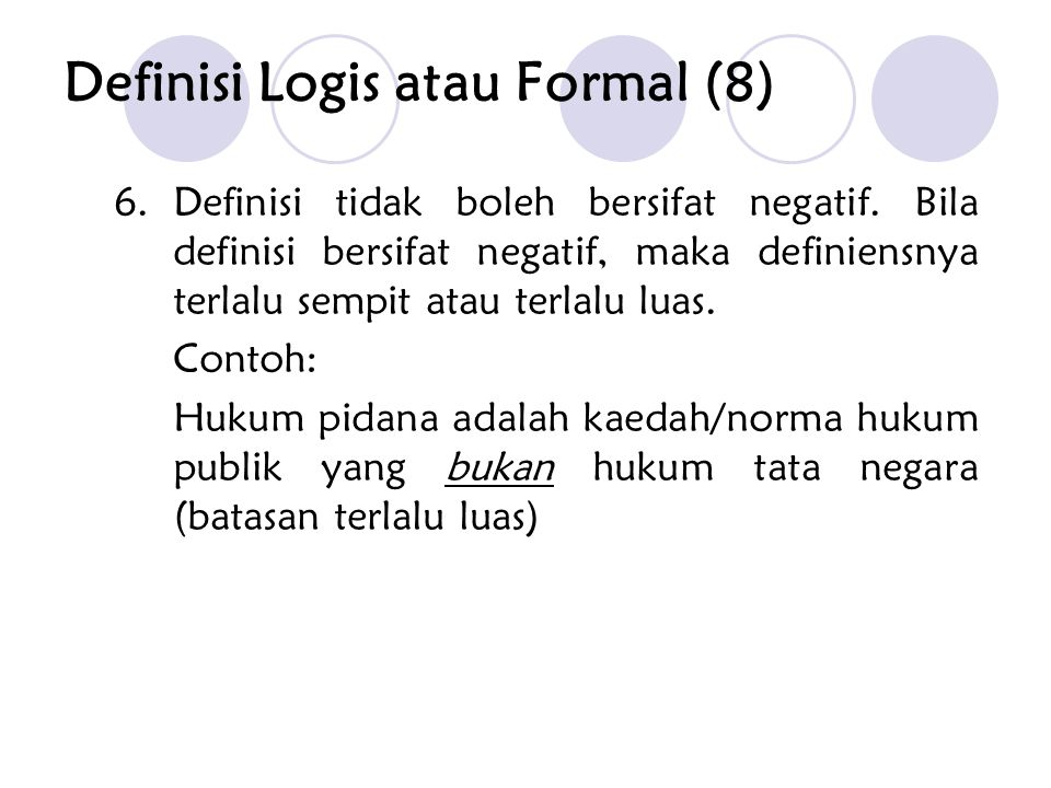 Definisi Logis atau Formal (8)